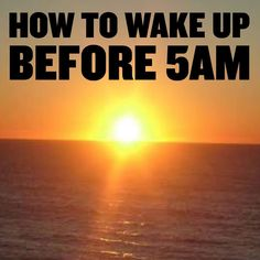 Many of you have asked me how to actually wake up and start the day before 5am!  So I'll share a few ideas I have learnt to use over the years that might help you get out of bed and get moving.  The first thing you have to do is get to bed at a reasonable time which is anywhere between 9pm and 10:00pm and you do have to set your alarm for at the very latest 4:45am.  As soon as your alarm goes off these are the four things I do that help me to get out of bed ASAP  1. I put my headphone on and…