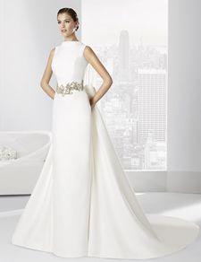 Vestidos de novia línea clásica confeccionado en falla.