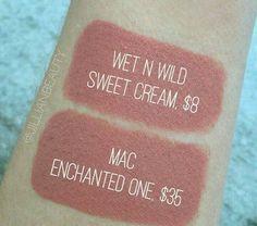makeup mascaramake up makeup brushes beauty makeup MAC Kylie Cosmetics Wet n Wild cosmetics makeup products Mac Dupes, Drugstore Makeup Dupes, Beauty Dupes, Makeup Swatches, Beauty Makeup, Eyeshadow Dupes, Mac Lipstick Dupes, Make Up Dupes, Mascara