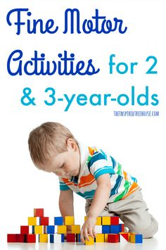 The Inspired Treehouse - These fine motor skills activities are great for helping 2 and develop hand strength, coordination, and manipulation skills. 3 Year Old Preschool, 3 Year Old Activities, Fine Motor Activities For Kids, Motor Skills Activities, Movement Activities, Gross Motor Skills, Montessori Activities, Preschool Activities, Interactive Games For Toddlers