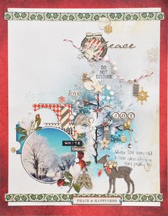 Emma Trout: White Christmas  Thank you for pinning my layout! :)