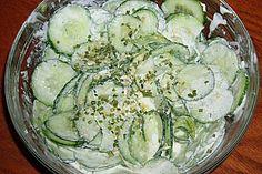 Gurkensalat (Rezept mit Bild) von clubschiff | Chefkoch.de schmeckt so gut, Ich liebe es!