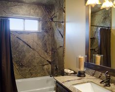 Shower in the rainforest with Trustone Cultured Marble