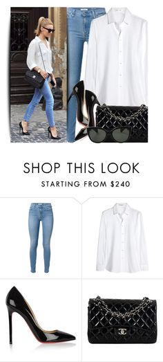 """Simple Look"" by monmondefou ❤ liked on Polyvore featuring Yves Saint Laurent, Christian Louboutin, Chanel, Oliver Peoples and GetTheLook"