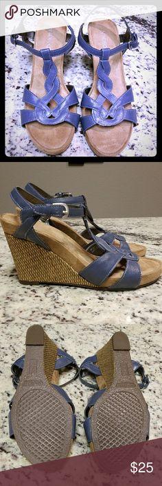 Aerosoles wedge sandals NWOT  Aerosoles blue wedge sandals 😍 AEROSOLES Shoes Wedges