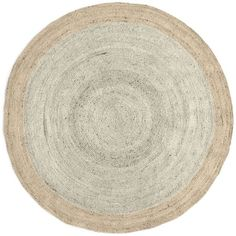 West Elm West Elm SPO Bordered Round Jute Rug, 6' Round, Ivory - White... ($249) ❤ liked on Polyvore featuring home, rugs, jute rug, cream rug, round area rugs, round ivory rug and circular rugs
