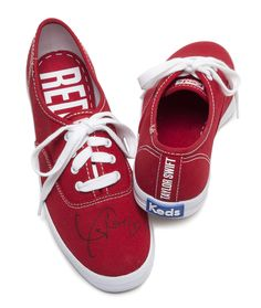 71ee6f5e8cc Enter for a chance to win Taylor Swift s autographed We re celebrating her  birthday by giving away a pair of her RED Keds every hour- just upload a  photo of ...