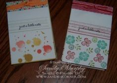 Stampin Up Notepads (A craft fair project) wwwsandieskorner.com