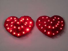 DIY LED Heart Pasties (What a great geeky Valentines gift!!! I might have to sneak into David's hobby electronics one day. ;)