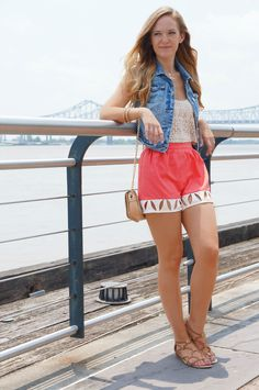 """SHANNON JENKINS for BASTION &CO: Check out our very own """"Bianca Shorts""""! Available at http://www.bastionconyc.com/bottoms/bianca-shorts. Check out Shannon's review at www.upbeatsoles.blogspot.com  coral 