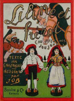JOB et MONTORGUEIL (Georges) Liline et Frérot au pays des joujoux. Boivin & Cie Editeurs. Paris. [Vers 1910].