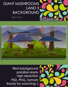 Buy Giant Mushrooms Land Background 3 by IrissNebula on GraphicRiver. Bright, colorful Fresh Giant Mushrooms, just from wonderland will give to your game fantastic view! Jeopardy Game Template, Powerpoint Game Templates, Board Game Template, Magazine Design, Giant Mushroom, Mushroom Spores, Pixel Art Games, Growing Mushrooms, Game Background