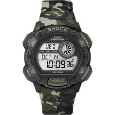 Timex Expedition Base Shock Chrono Alarm Timer Watch - Camo [T49976]