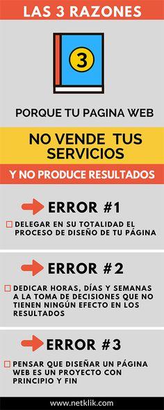 3 Razones porque tu página web no vende tus servicios y hacer al respecto