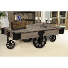 Industrial Coffee Table 1, France and Son http://www.franceandson.com/industrial-coffee-table.html