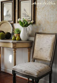Dear Lillie: New Chairs in the Dining Room and Valentine's Silhouette for Sale
