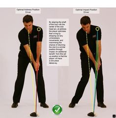 Golf Tips Optimal Address and Optimal Impact Position Driver - Golf Driver Swing, Golf Drivers, Golf Stance, Golf Putting Tips, Golf Photography, Golf Instruction, Golf Tips For Beginners, Golf Training, Golf Lessons