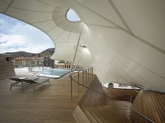 cabbagerose:  new spa at palais thermal, black forest of germany/kauffmann theilig & partner via: blueverticalstudio