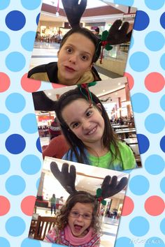 Old, but still funny pics of the kids with the reign deer antlers