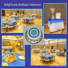 Relief Society Birthday Celebration...I loved how the wheat stalk centerpieces turned out!  Relief Society Birthday Cake