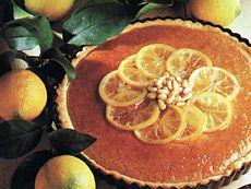 Tarte aux citrons confits