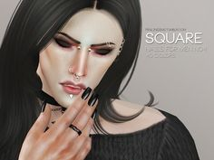 Pralinesims' Square Nails For Men N04