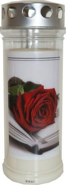 Jeka Gedenk Kerze 215x75mm Rose-Buch bis zu 7 Tage Food, Seven Days, Book, Essen, Meals, Yemek, Eten