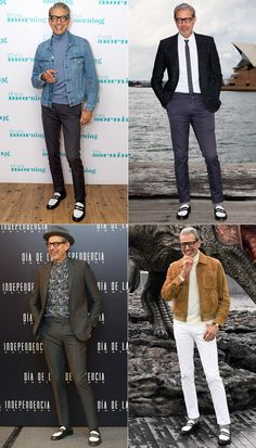 How the eccentric, age-defying star manages to look cool, current and uniquely himself. Business Casual Men, Business Fashion, Men Casual, Celebrity Style Casual, Man Dressing Style, Badass Style, Men's Style, Herren Outfit, Stylish Men