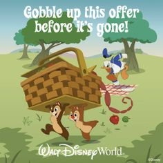 Get a FREE Dining Plan when you purchase a non-discounted room ticket package at select Walt Disney World Resort hotels for select nights this fall. Gobble up this offer before it's gone! Book by August Contact me! Small World Vacations, Walt Disney World Vacations, Disney Trips, Disney Discounts, Disney Deals, Dining At Disney World, Disney Dining, Disney Promotions, Authorized Disney Vacation Planner