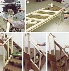 Scala in legno massello di faggio evaporato, realizzata su misura in ...