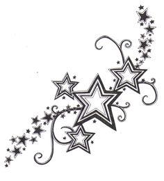 tatouage dos femme etoile