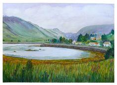 Scottish Highland Cove, watercolour, July 2015