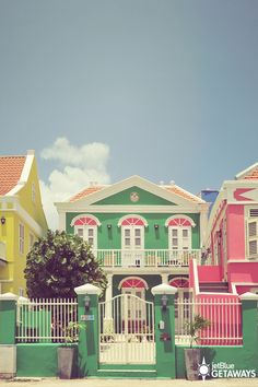 Handelskade is a small street that runs along the Curacao harbor and is lined with brightly painted 18th century buildings. Today, these brightly colored buildings are home to cafes, island boutiques and other local stores - it's a little haven of European architecture in the heart of Curacao.  See it for yourself on a JetBlue Getaways vacation (air + hotel).