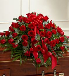 Order Cherished Memories Red Rose Half Casket Cover flower arrangements from All Flowered Up Too, your local Lubbock, TX florist. Send Cherished Memories Red Rose Half Casket Cover floral arrangement throughout Lubbock and surrounding areas. Casket Flowers, Funeral Flowers, Wedding Flowers, Funeral Floral Arrangements, Flower Arrangements, Funeral Caskets, Funeral Sprays, Casket Sprays, Memorial Flowers