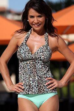 c29803f4b1 Green Leopard Beach - Tankini Swimsuit Tankini Swimsuits For Women