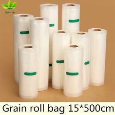 15*500 cm/Rolle Vakuumbeutel frischhaltebeutel Lebensmittelkonservierung Tasche Aufbewahrungstasche