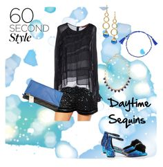 """""""Daytime Sequins"""" by chunky-chick ❤ liked on Polyvore featuring ASOS Curve, Manila Grace, ASOS, Janna Conner Designs, Stella & Dot, Clare V. and Sequins"""