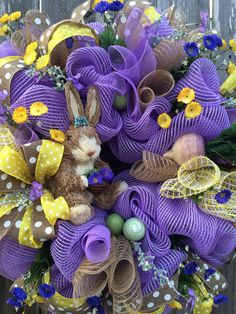 Easter Wreath Easter Decoration Spring Wreath by BaBamWreaths