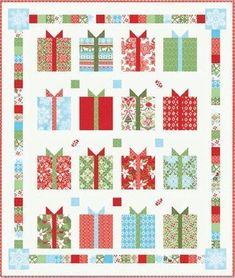 Red Rooster Quilts: Shop | Category: Patterns - Download for FREE | Product: All Wrapped Up! Downloadable Quilt Pattern.