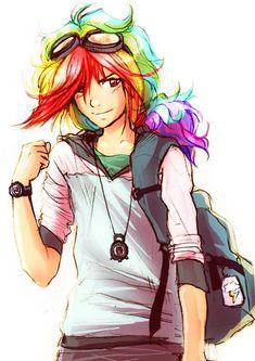 Rainbow Dash as Human