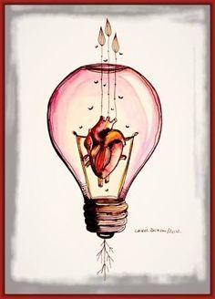 Anatomical Heart Art by Carol Burgo Tattoo Painting, Tatoo Art, Arte Com Grey's Anatomy, Anatomy Art, Heart Anatomy, Art Sketches, Art Drawings, Anatomical Heart, Heart Art