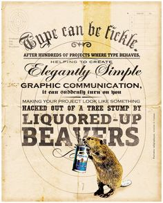 Vintage hairy beaver very grateful