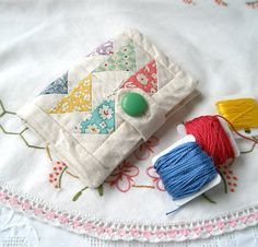 The Flying Geese Needle Case in 1030's Inspired by fiberluscious, $24.00