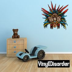 Aztec Eagle Warrior Wall Decal - Vinyl Car Sticker - 5 #full color decals  home decor -  #wall decals