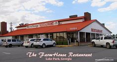 The Farmhouse Restaurant is well worth a visit when you're passing through Lake Park, Georgia. On the Road and at the dinner table with Jack, Niki and Snowbird RV Trails. New Port Richey Florida, Farmhouse Restaurant, Adirondack Mountains, Lake Park, Park Photos, Rv Parks, Rv Travel, Perry Georgia, Dinner Table