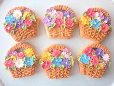 micarina sweets フラワーバスケット アイシングクッキー