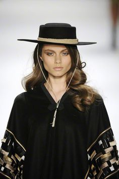 Gaucho hat - check this page  http://www.fashionisers.com/trends/fall-winter-2012-2013-hat-trends/