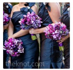 Wedding colors. Blue bridesmaid dresses and purple,lavander,pink and little bit of white wedding colors.