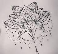 Resultado de imagen de lace lotus tattoo black and white