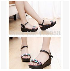 Find More Sandals Information about 2015 summer Korean candy colored muffin platform sandals heel shoes women in high heels slope with rhinestone sandals women,High Quality sandals foam,China sandal wedding shoes Suppliers, Cheap shoes grape from Kyushu Trade Co. on Aliexpress.com